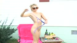 Blonde pussy spreading parade