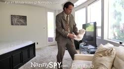 NannySpy Big tits nanny Amia Miley caught on hidden cams